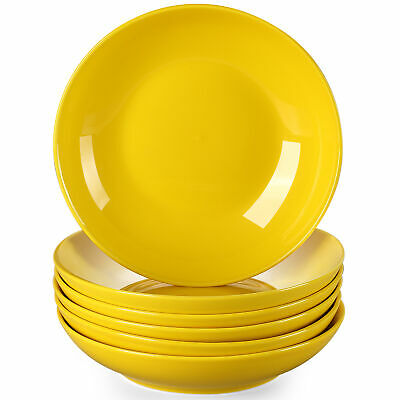 £31.99 • Buy Lovecasa Sweet 6pc Porcelain Soup Plate 550ml Kitchen Serving Deep Dishes Yellow