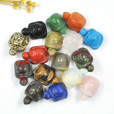 £3.25 • Buy Mineral Carved Crystal Jade Agate Tortoise Animals Crafts Fish Tank Decoration