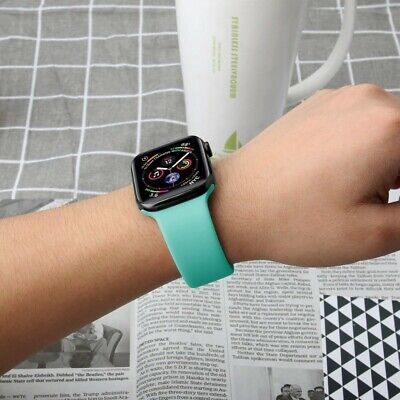 $ CDN2.50 • Buy Silicone Strap  Band Strap For Apple Watch Series 6 SE 5 4 3 2 1 44/40/38/42 Mm