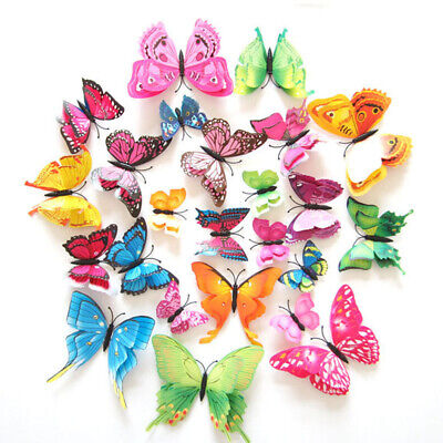 AU2.75 • Buy 12-72Pcs 3D Butterfly Wall Removable Stickers Decals Kids Art Nursery Magnets AU