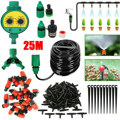 £14.99 • Buy 25M Micro Drip Irrigation Watering Automatic Garden Plant Greenhouse System