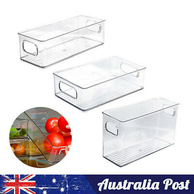 AU21.59 • Buy Kitchen Fridge Storage Box Container Tray Sets Fruits Vegetable Cans Food Rack