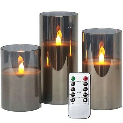 £17.99 • Buy LED Candle Set Flameless Candles Battery Operated Flickering Lights Moving Wick
