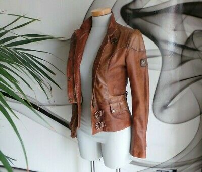 £450 • Buy Belstaff GOLD LABEL RARE FITTED Real Leather JACKET COAT SIZE 10