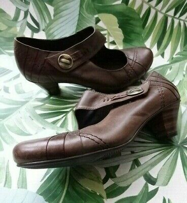 £25 • Buy Brown Leather JANA Shoes With 5cm Heels Size 6H