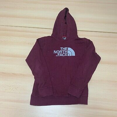 £19.99 • Buy The North Face Hoodie Womens Medium M Burgundy Pullover Logo Spell Out