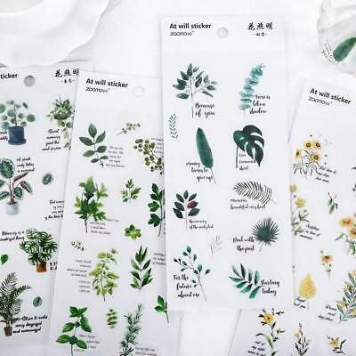 AU2.09 • Buy Plant Stickers Paper Lover Stationery Bullet Journal Japanese Diary Gift