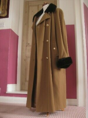 £374.99 • Buy MANSFIELD VINTAGE RIDING COAT VICTORIAN Trench Great 30s 40s 14 16 Duster Flare