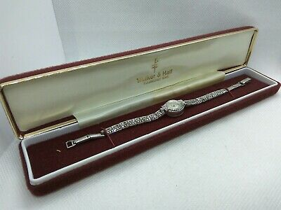 £70 • Buy Vintage Accurist 21 Jewels Art Deco 925 Silver And Marcasite Set  Watch