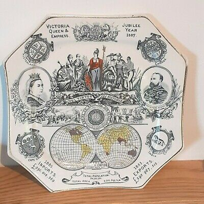 £35 • Buy Lovely Commemorative Plate Victoria Queen & Empress Jubilee Year 1887 Ironstone