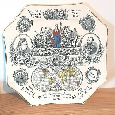 £32 • Buy Lovely Commemorative Plate Victoria Queen & Empress Jubilee Year 1887 Ironstone