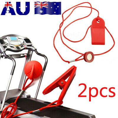 AU11.88 • Buy 2pcs Treadmill Safety Key Lock Running Machine Fitness Magnetic Security Switch
