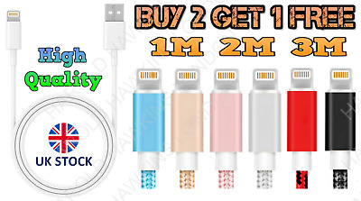 £3.45 • Buy IPhone Charger Fast For Apple Long Cable USB Lead 5 6 7 8 X XS XR 11 12 Pro &Max