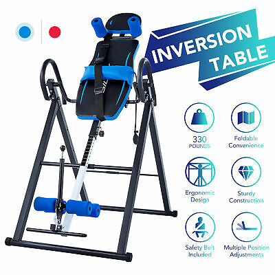 £78.99 • Buy Foldable Gravity Inversion Table Inverting Back Support Body Board Home Gym