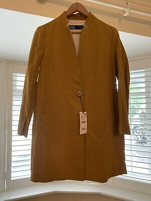 £49.99 • Buy Mustard Boyfriend Lined Long Jacket Blazer Size Small New With Tags