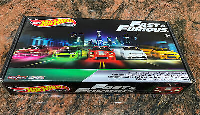 AU149.99 • Buy Fast And Furious Hot Wheels Original Premium Box 5 Pack Real Riders Complete Set