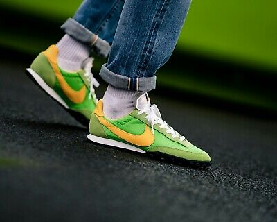 £82.99 • Buy ❤ BNWB & Genuine Nike ® Waffle Racer Retro Trainers In Green Yellow In UK Size 8
