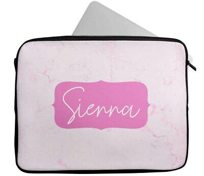 £15.99 • Buy Personalised Any Name Marble Design Laptop Case Sleeve Tablet Bag 6