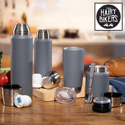 £19.79 • Buy Thermal Travel Flasks Insulated Heavy Duty Stainless Steel Hot Cold Coffee Soup