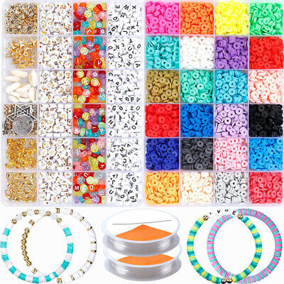 £10.99 • Buy 1 Set Polymer Clay Beads Spacer For DIY Bracelets Jewelry Making Finding UK