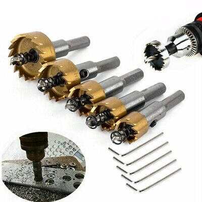 £12.39 • Buy 5x Hole Saw Tooth HSS Stainless Steel Drill Bit Set Cutter Tool For Metal Wood