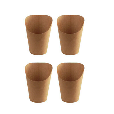 £20.99 • Buy 100pcs Kraft Paper Cup Paper Safe Kraft Paper Cup For French Fries Ice Cream