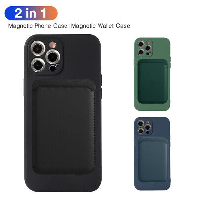 AU10.98 • Buy Magnetic Magsafe Case Cover Leather Wallet Card For IPhone 11 12 Pro X XR XS 8P