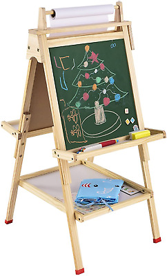 £29.95 • Buy USELUCK Kids Easel With Paper Roll Double-Sided Drawing Adjustable Height Easel