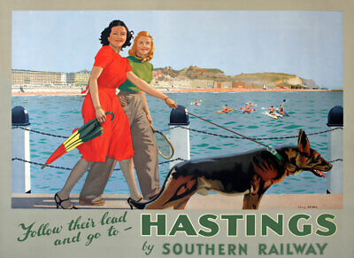£7.75 • Buy TX541 Vintage Hastings Travel Poster Southern Railway Poster A2/A3/A4