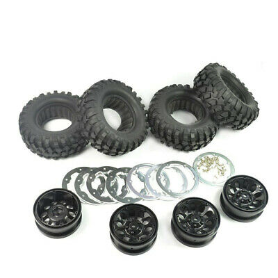 £22.89 • Buy 4X 1:10 Rock Crawler RC 96MM 1.9  Rubber Rocks Tyres Wheel Tires For Axial SCX10
