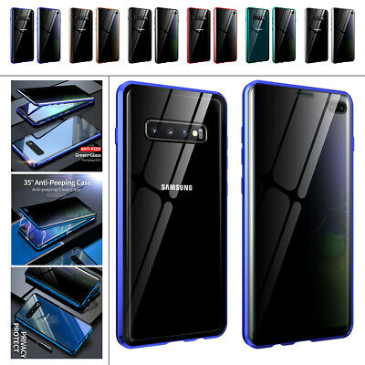 AU15.46 • Buy For Samsung Galaxy S20 S10 S9 S8 Anti Spy Privacy Glass Full Cover Magnetic Case