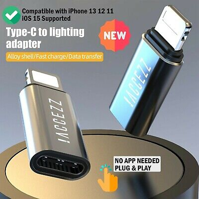 AU6.64 • Buy OTG Adapter For IPhone IPad Lighting Male To Type C Female Charging Data Sync US