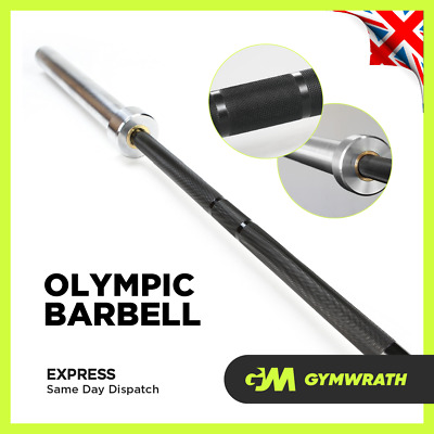 £149.99 • Buy Knurled Olympic 7ft 20kg Barbell 400kg Load Strength Gym Weightlifting Chrome