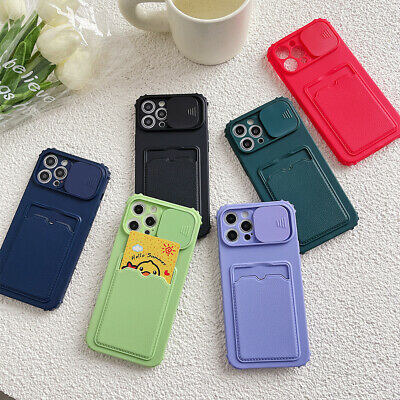 AU7.68 • Buy Case For IPhone 12 11 Pro Max XS X XR 8 7 6s Plus SE 2 Card Holder Wallet Cover