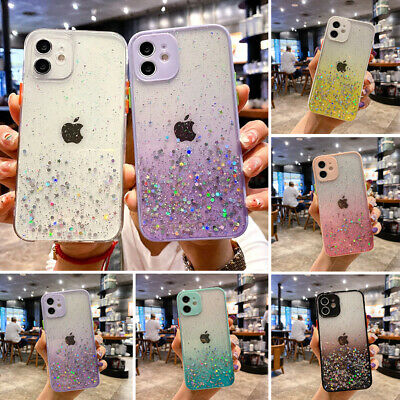 AU7.89 • Buy For IPhone 12 Pro Max XS XR 11 8 7 Plus Bling Glitter Clear Silicone Case Cover