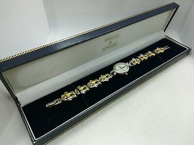 £110 • Buy Brooks & Bentley 925 Sterling Silver Quartz Watch Working Order With Box