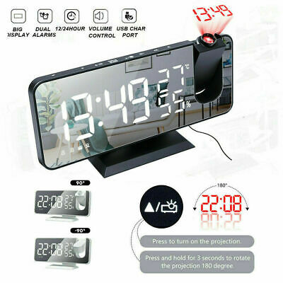 AU31.06 • Buy Alarm Clock Smart Digital LED Projection Temperature Time Projector LCD Display