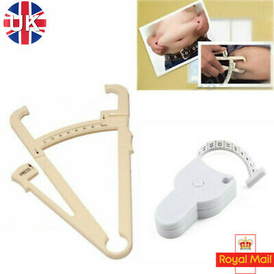 £2.49 • Buy Body Mass Tape Measure Fat Calipers Tester Fitness Health Weight Loss Diet Gym