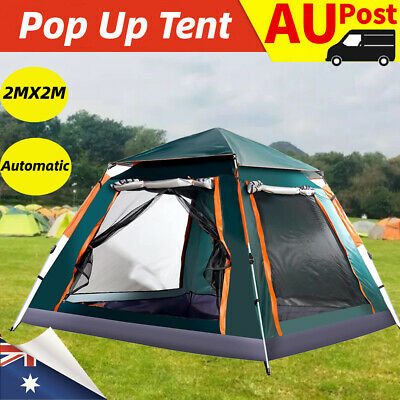 AU95.89 • Buy 4-5 Man Person Pop Up Dome Tent Family Festival Camping Auto Beach Sun Shelter