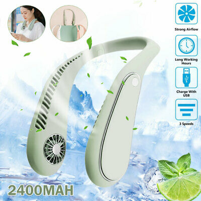 AU29.99 • Buy USB Portable Leafless Neck Fan Cooler Rechargeable Dual Effect Cooling Neckband