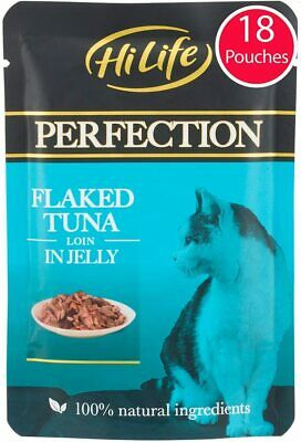 £15.26 • Buy HiLife Perfection - Wet Cat Food - Flaked Tuna Loin In Jelly - Natural Grain 18