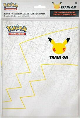 $10.99 • Buy NEW! Pokemon 25th Anniversary First Partner Collector's Binder & Oversize Card