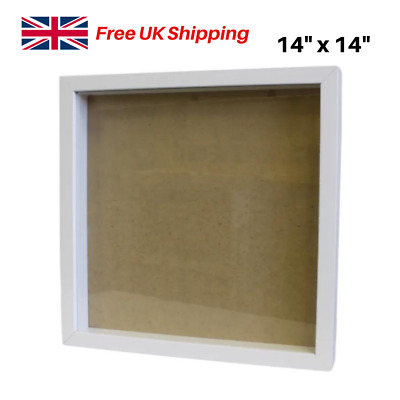 £15.95 • Buy 3D Deep Box Frame White, Craft Picture Photo Frame Filling DIY Object 14  X 14