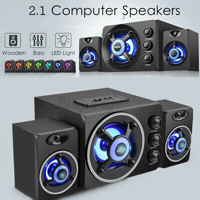 £32.88 • Buy LED PC Speakers Gaming Bass USB Wired For Desktop Computer Surround Sound System