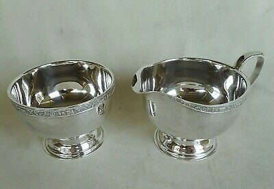 £18 • Buy Viners Of Sheffield Silver Plated Milk Jug And Sugar Bowl - Good Condition