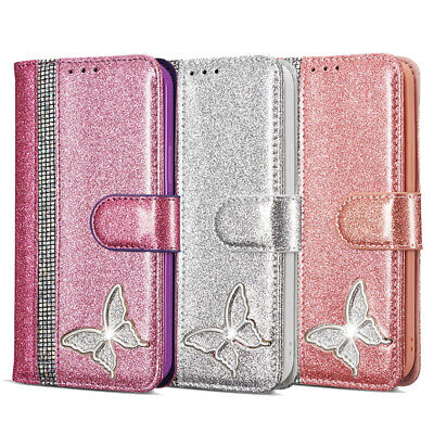 AU12.38 • Buy Wallet Case For IPhone 12 11 Pro Max Glitter Butterfly Leather Card Flip Cover