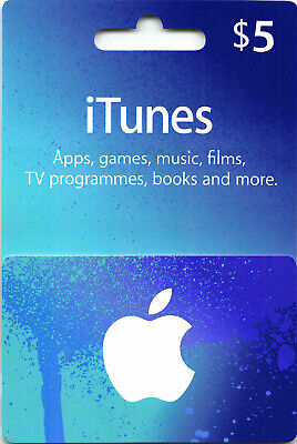 AU11.95 • Buy US ITunes Gift Card $5 USD American App Store Key Code USA App Credit Ship Fast.
