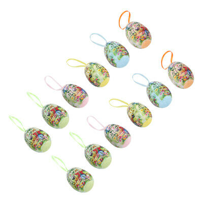 £4.54 • Buy 12Pcs Plastic Colorful Easter Egg Toy Hand-Painted Egg Easter Eggs Decoration