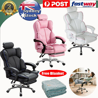 AU179.99 • Buy Gaming Chair Office Computer Leather Chairs Racer Executive Racing Seat Recliner