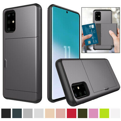 AU10.65 • Buy For Samsung Galaxy S6 S7 S8 S9 S10 S20 Shockproof Wallet Card Holder Case Cover